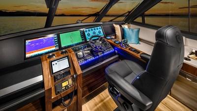 68 sports motor yacht  6 Riviera-68-Sports-Motor-Yacht-Helm-01-Gloss-Walnut-Timber-Finish-R