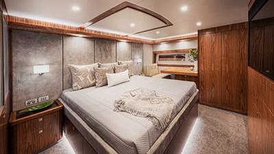 68 sports motor yacht  7 Riviera-68-Sports-Motor-Yacht-Master-Stateroom-Classic-Layout-02-Satin-Walnut-Timber-Finish
