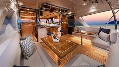 68 sports motor yacht  9 Riviera-68-Sports-Motor-Yacht-Mezzanine-04-Gloss-Cherrywood-Timber-Finish-R