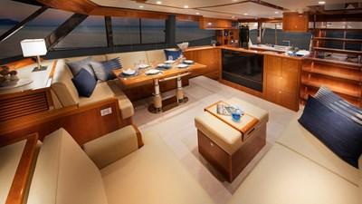 68 sports motor yacht  14 Riviera-68-Sports-Motor-Yacht-Saloon-06-Gloss-Cherrywood-Timber-Finish-R