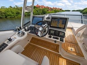 Phoencia 49 Flybridge Helm w/ Joystick and Bow Thruster Controls