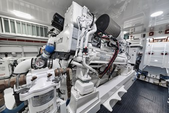 Whirlwind 67 Engine Room