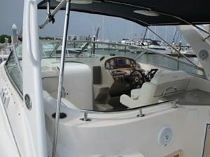 Missy Spent Money 13 13. 30' Rinker Cockpit View Forward 2