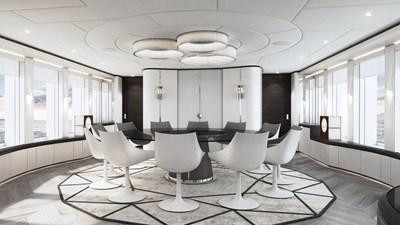 Heesen 50m Aluminium YN 20350 Project Jade 9 Main saloon dining