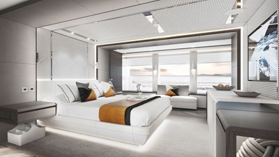 Heesen 50m Aluminium YN 20350 Project Jade 13 Owners stateroom