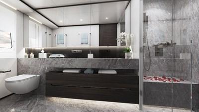 Heesen 50m Aluminium YN 20350 Project Jade 15 Guest bathroom