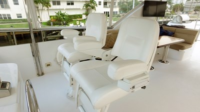 LIFE'S A JOURNEY 17 Fly Bridge Helm Chairs