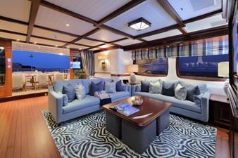 AWATEA 16 Bridge Deck Salon Looking Aft