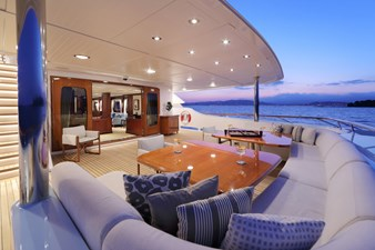 AWATEA 25 Main Deck Aft Looking To Starboard
