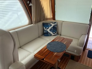 Rowe Boat 1 Salon - Starboard Side L-Shaped Seating Area with Storage