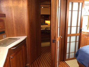 Rowe Boat 13 Galley and Master Stateroom to Starboard