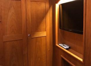 Rowe Boat 21 (2) Hanging Cedar Lined Closets - Samsung TV