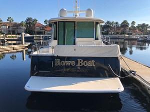 Rowe Boat 41 Stern View with Swim Platform