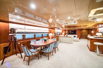Wind of Fortune (Full Refit 2020) 58 Salon Game table and Bar