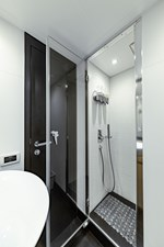 Aretecte 39 Stall Shower with Adjustable Wall Mount Handheld and Rain Shower Heads