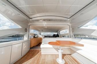 Aretecte 62 Fiberglass Deck with Teak Overlay