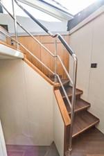 Inner Light 27 2016 Sunseeker 65 Manhattan - Inner Light - Stairs to Staterooms