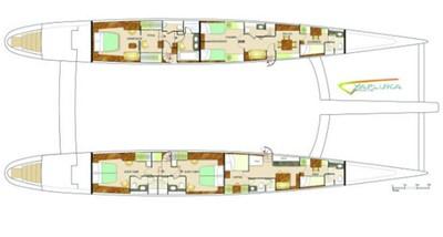 115' 2008 Yapluka 2 Hull Layout Variation