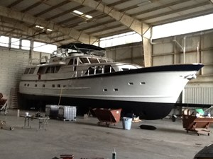 1986 86' Classic Burger Motor Yacht Hauled Out