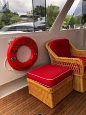 1986 86' Classic Burger Motor Yacht New Red Sunbrella Cushions