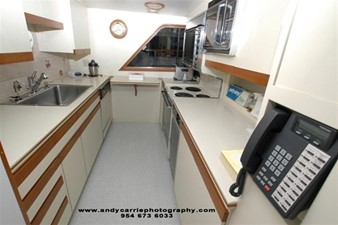1986 86' Classic Burger Motor Yacht Galley