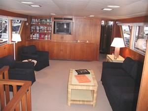 1986 86' Classic Burger Motor Yacht Salon