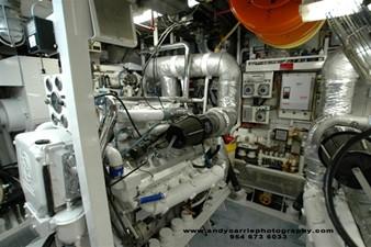 1986 86' Classic Burger Motor Yacht Engine Room