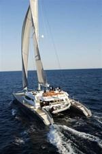 102' 2007 Blubay 102 10 Aft View Sailing