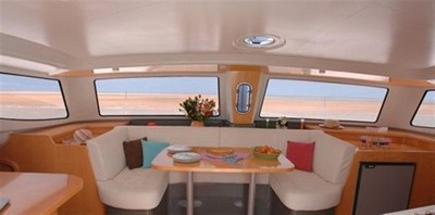 36' 2007 Fountaine Pajot MAHE 4 Spacious and Airy Saloon