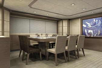 Inace Yachts 126' Aft House Explorer Yacht 9 Dining