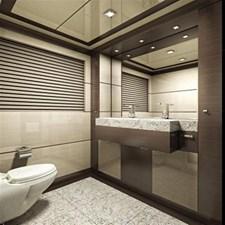 Inace Yachts 126' Aft House Explorer Yacht 18 Master Bath