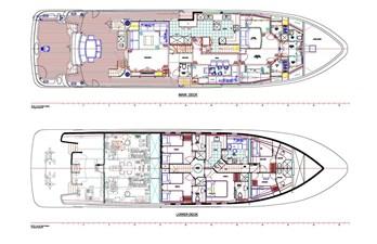 All Ocean Yachts 100' Fiberglass 14 Updated Main Deck/Lower Deck