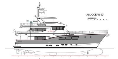 All Ocean Yachts 90' Fiberglass 3 Profile