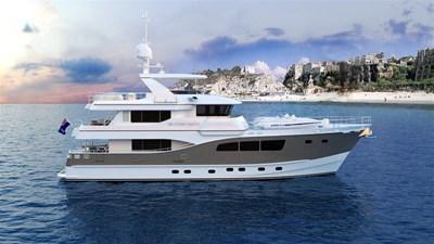 All Ocean Yachts 90' Fiberglass 12 Beach shot